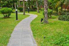 Stone walkway in garden Royalty Free Stock Photos