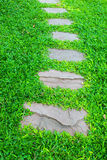 Stone walkway in garden Royalty Free Stock Photography