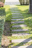 Stone walkway in the garden. In afternoon Royalty Free Stock Photos