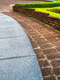 Stone walkway in garden Stock Photos