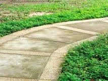 Stone walkway in garden Stock Photography