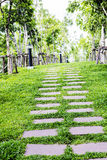 Stone walkway in the park Royalty Free Stock Photo