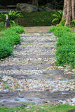 Stone walkway in the park Stock Photo