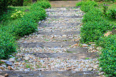 Stone walkway in the park Royalty Free Stock Images