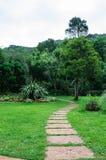 Stone walkway. Stone pathway  through a beautiful garden Royalty Free Stock Photos