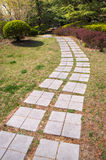 Stone Walkway in spring Royalty Free Stock Image