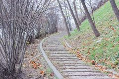 Stone walkway track in the park stock photography