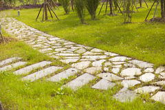 Stone walkway Royalty Free Stock Images