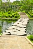 Stone walkway on water Stock Photography