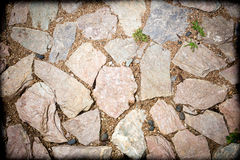 Stone walkway winding background Stock Image