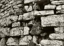 Stone wall. Closeup of ancient stone wall Royalty Free Stock Photos