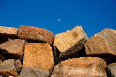 Stone wall. Close up of stone wall Royalty Free Stock Photos