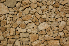 Stone wall. View of a dry stone wall Royalty Free Stock Photo