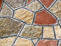 Stone wall. Pattern of  a house stone wall Royalty Free Stock Images