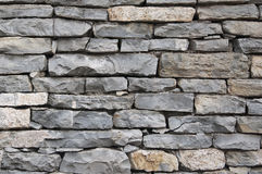 Stone wall. By the irregular stone wall can be used as background images Stock Photos