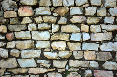 Stone Wall. A dry-stack stone wall royalty free stock photo