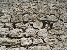 Stone wall. Old stone wall at mediteranian sea Stock Image