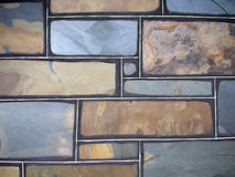 Stone wall. Wall background made from slate colored bricks Stock Image