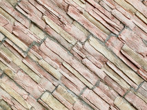 Stone wall. Decorative brick stone wall used for exteriors and interiors Royalty Free Stock Photo
