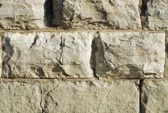 Stone Wall. Detail of a stone foundation wall at the base of a Victorian industrial building royalty free stock photos