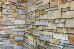 Stone wall. Support stone wall made from colorful stones royalty free stock photos