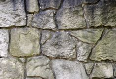 Stone Wall. Made of big grey stones royalty free stock images