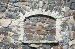Stone wall. A Stone gray wall background royalty free stock photo