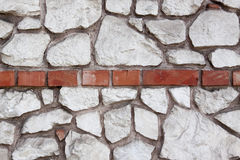 Stone wall. With bricks. Background, texture Stock Images