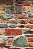 Stone wall. With  lichen and moss  in small city Saarburg, Rheinland-Pfalz, Germany, summer Royalty Free Stock Image