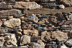 Stone Wall. Close up detail of a stone wall texture Royalty Free Stock Photo
