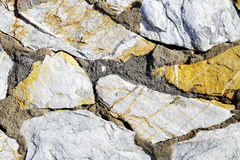 Stone wall. Background of stone wall detail Royalty Free Stock Images
