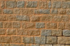 Stone Wall. A deteriorating stone wall with cracks in the motar Stock Photography