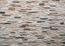 Stone wall. Wall of stones of different sizes and colors stock photos