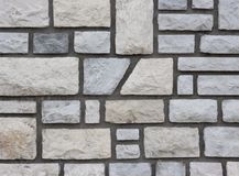 Stone wall. With cement royalty free stock photo