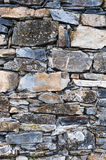 Stone wall. Old stone wall in an upright position Stock Image