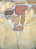 Stone wall. Stone and stucco wall as background Royalty Free Stock Photography