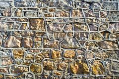 Stone Wall. With much detail, patterns, and texture Royalty Free Stock Photo