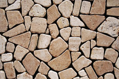 Stone wall. Detail of a stone wall structure Royalty Free Stock Image