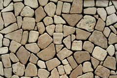Stone wall. Detail of a stone wall structure Royalty Free Stock Photos