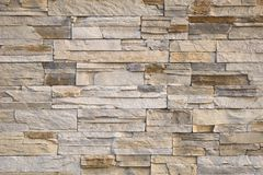 Stone Wall. Beige Bricks Background stock photos