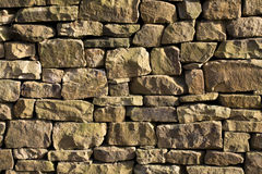 Stone wall. Closeup of stone wall use for construction business and designers Royalty Free Stock Photo