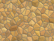 Stone Wall. Light brown stone surface - seamless texture, perfect for tiling royalty free stock image