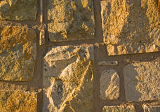 Stone Wall. Detail of a stone wall Stock Images
