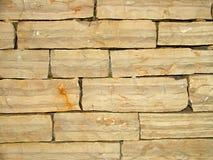 Stone wall. Wall made from limestone blocks Stock Photography