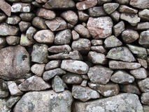 Stone Wall. Close-up of dry stone wall in the Lake District, UK Royalty Free Stock Photo