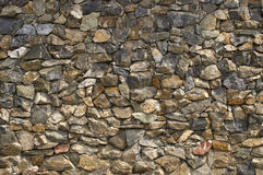 Stone wall. Wall from a natural stone Stock Images