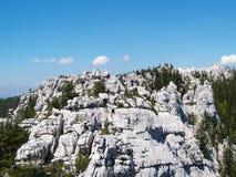 Stone wall. Cliffs from Gorski kotar, mountain region of Croatia Royalty Free Stock Image