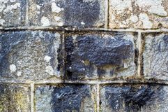 Stone Wall. Showing much detail and texture Stock Photo