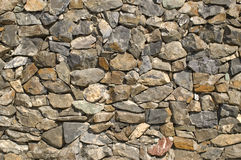 Stone wall. Wall from a natural stone Stock Photography