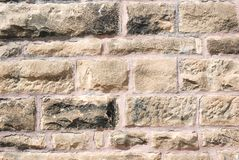 Stone Wall. Old weathered stone wall background Royalty Free Stock Image